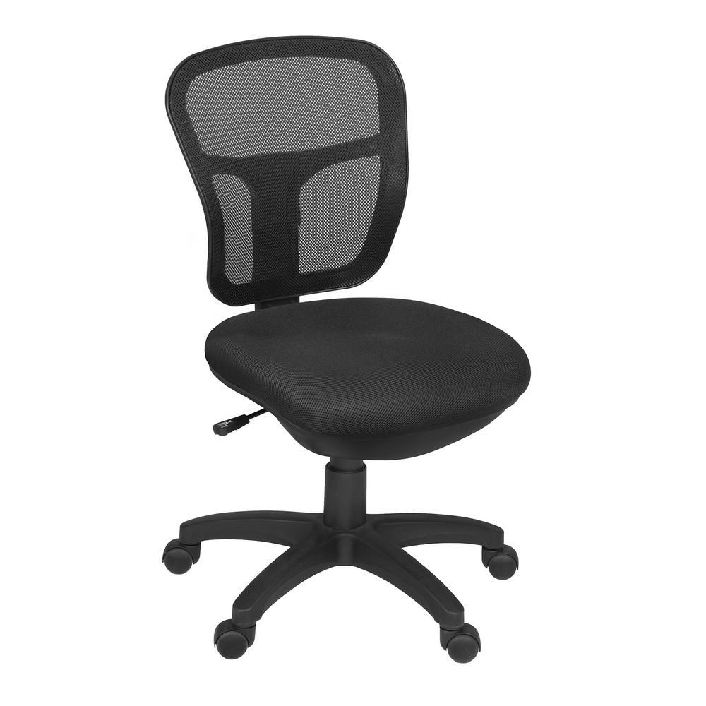 comfortable swivel chair covers for headrest regency harrison black armless 5129bk the home depot
