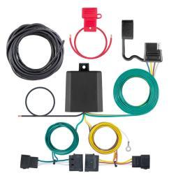 curt custom wiring harness 4 way flat output 56329 the home depot silverado trailer wiring harness splice [ 1000 x 1000 Pixel ]