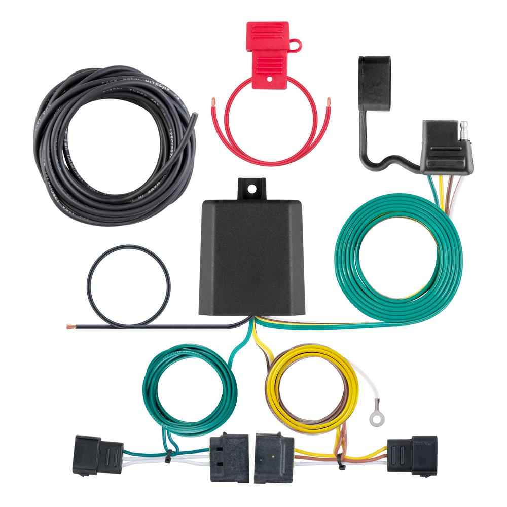 hight resolution of curt custom wiring harness 4 way flat output 56329 the home depot silverado trailer wiring harness splice
