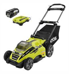 20 in 40 volt brushless lithium ion cordless battery walk behind push lawn mower 5 0 ah battery charger included [ 1000 x 1000 Pixel ]