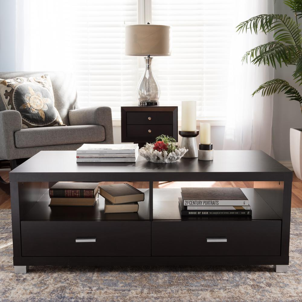 Dark And Coffee Wood Table White