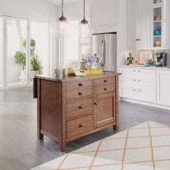 Islands Kitchen Sink Depth Carts Utility Tables The Home Depot Tahoe Aged Maple Island