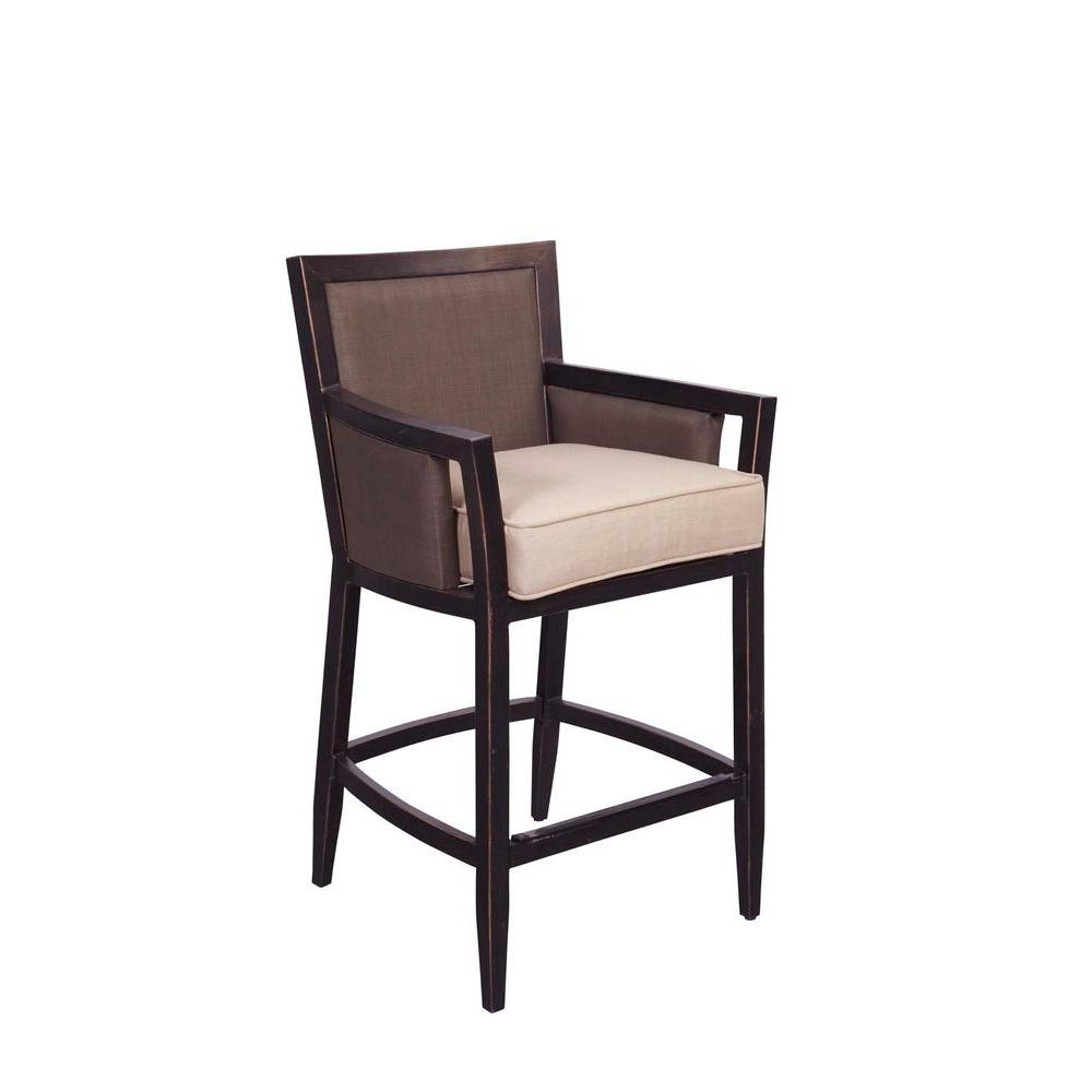 Brown Jordan Greystone Patio High Dining Chair in Sparrow