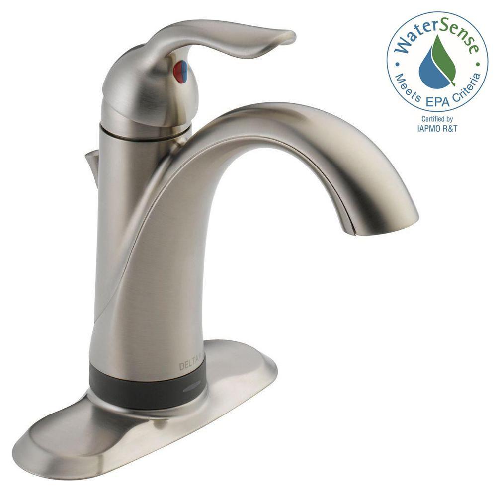 Delta Lahara Single Hole SingleHandle Bathroom Faucet