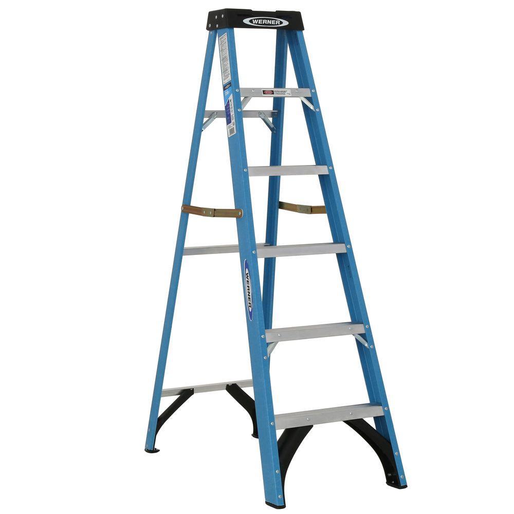 Werner 6 ft. Fiberglass Step Ladder with 250 lb. Load