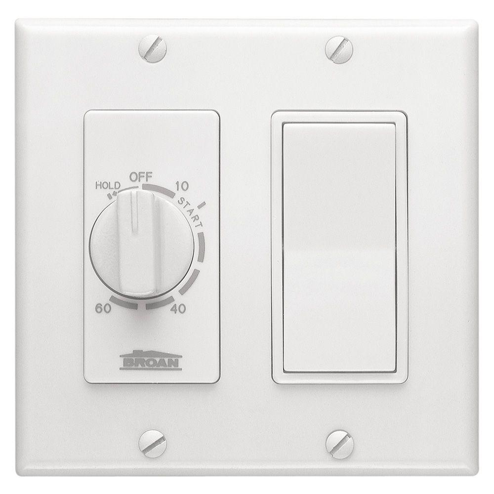 BroanNuTone 15 Amp 60Minute InWall Dial Timer with
