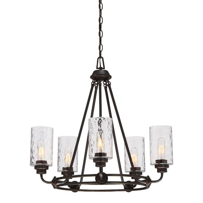 Designers Fountain Gramercy Park 5 Light Old English Bronze Interior Incandescent Chandelier