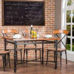 Kitchen Dining Tables Where To Buy Faucets Room Furniture The Home Broxburn Light Brown Wood And Metal Table