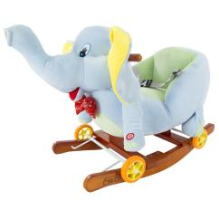 Animal Rocking Chair Swing Egg Garden Happy Trails Plush Gray Elephant With Seat M400007 The