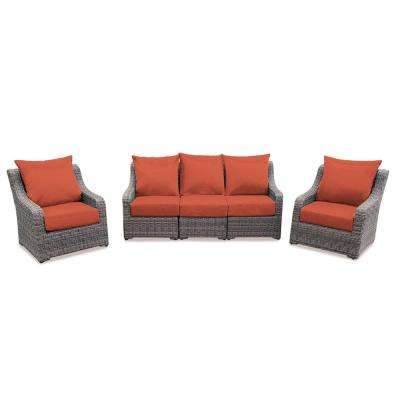 glam sofa set bed corner 4 5 person patio conversation sets outdoor lounge cherry hill piece deep seating with canvas brick cushions