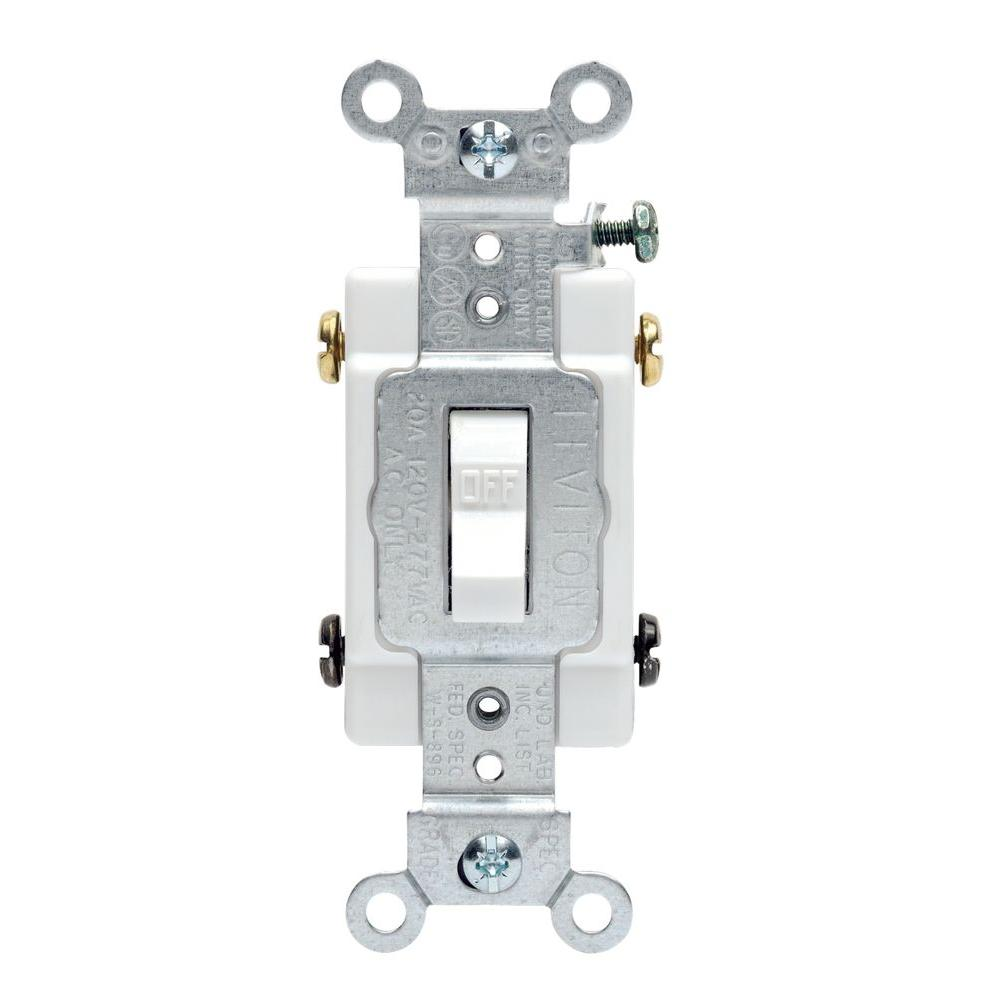 4 way switch wiring diagram leviton nissan pulsar n15 stereo 20 amp commercial double-pole toggle switch, white-r52-0csb2-2ws - the home depot