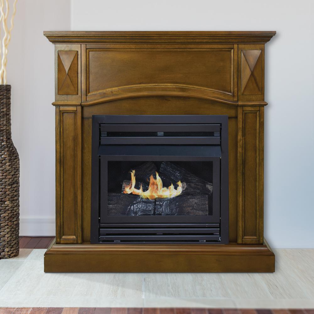 Pleasant Hearth Compact 36 in VentFree Gas Fireplace in HeritageVFFPH20D  The Home Depot