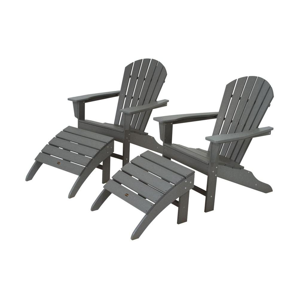 Weatherproof Adirondack Chairs Polywood South Beach Slate Grey Plastic Patio Adirondack Chair 2 Pack