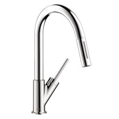 Axor Kitchen Faucet Chief Hansgrohe Starck Prep Single Handle Pull Down Sprayer In Chrome