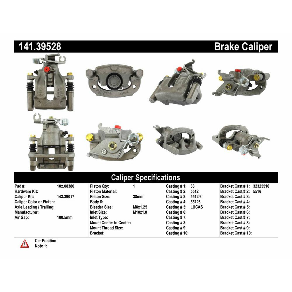 Centric Parts Premium Semi-Loaded Caliper Housing/ Bracket