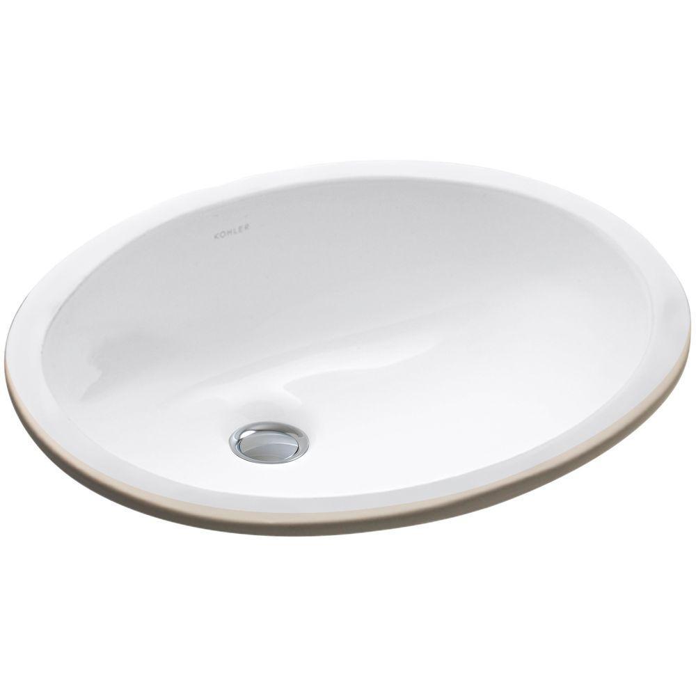 KOHLER Caxton Vitreous China Undermount Bathroom Sink in