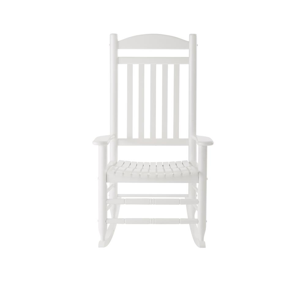 white wood rocking chair knoll handkerchief hampton bay glossy outdoor it 130828w the