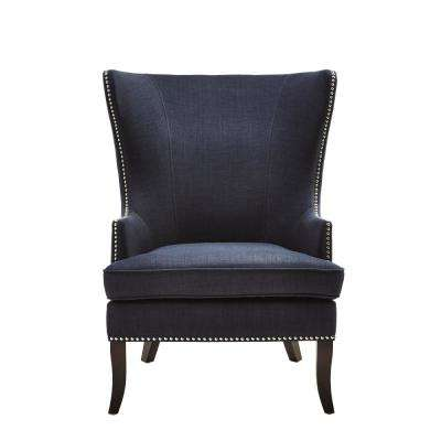 accent chair blue purple covers chairs the home depot moore midnight fabric wing back