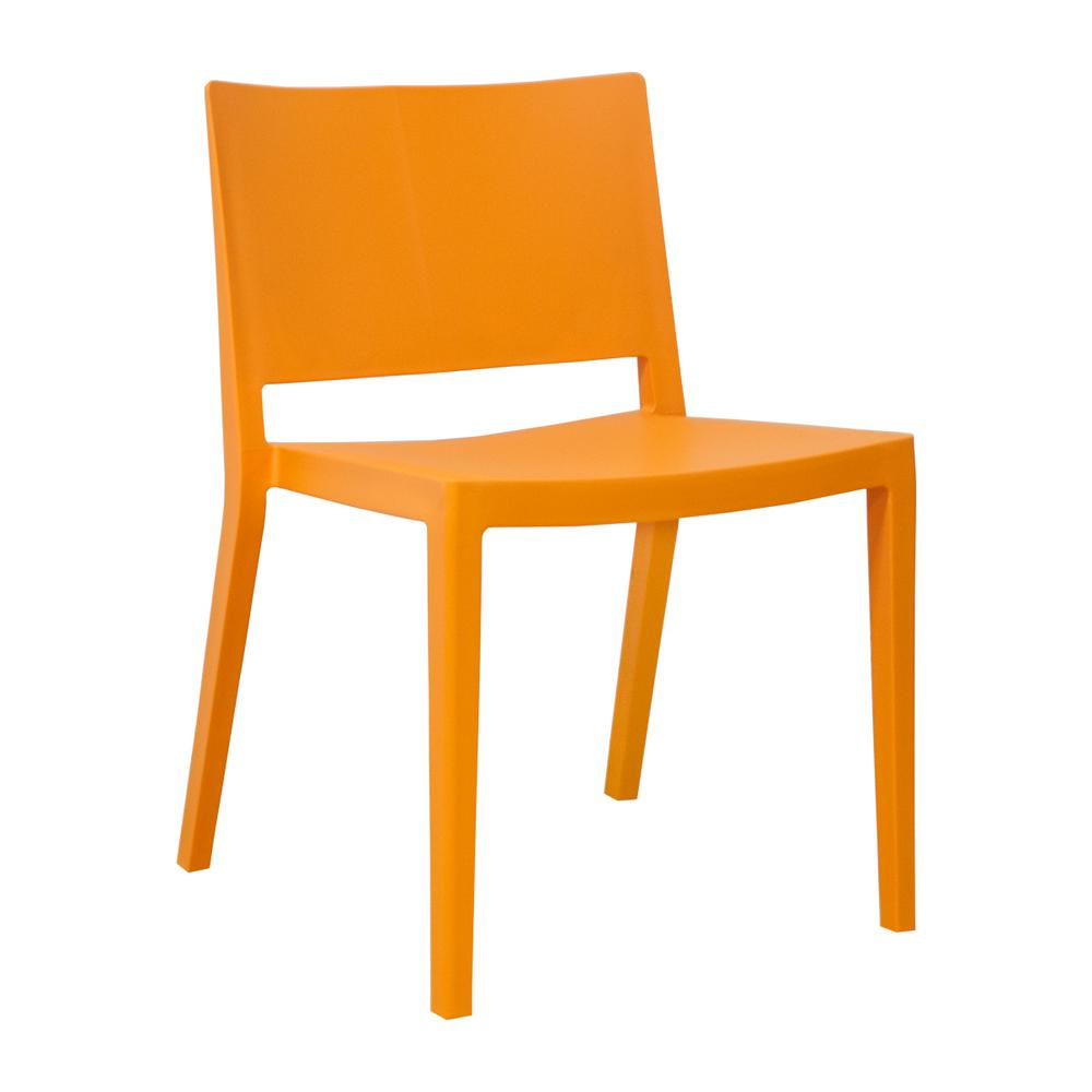 orange side chair outdoor hanging swing pod cushions mod made elio modern plastic dining set of 2 mm