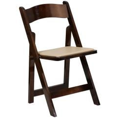 Folding Chairs Wooden Graco Duodiner High Chair Metropolis Flash Furniture Hercules Series Fruitwood Wood With Vinyl Padded Seat