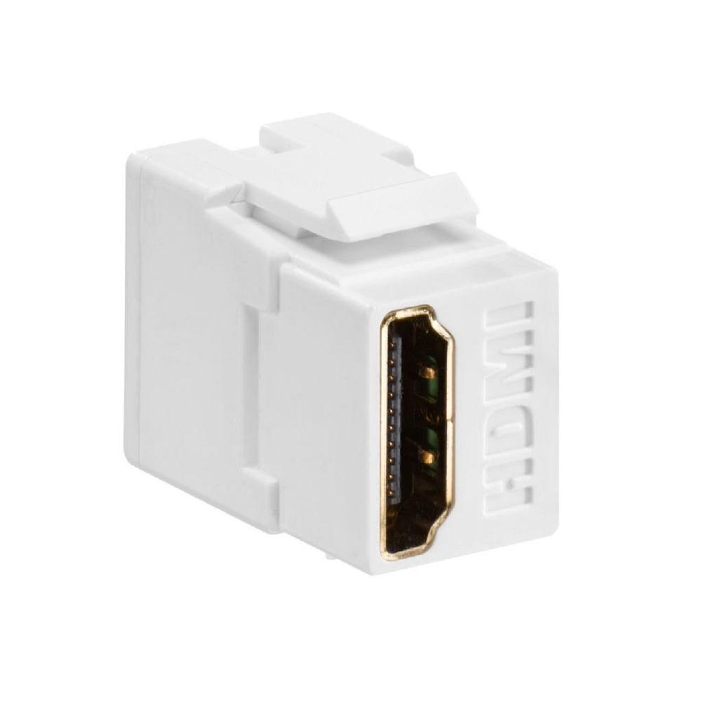 hight resolution of  leviton feed through quickport hdmi wire connector white 40834 w on leviton leviton network wiring diagram wiring liry on leviton double switch