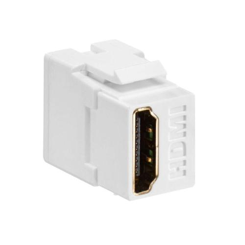 small resolution of  leviton feed through quickport hdmi wire connector white 40834 w on leviton leviton network wiring diagram wiring liry on leviton double switch