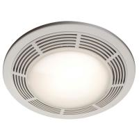 Broan 100 CFM Ceiling Bathroom Exhaust Fan with Light ...