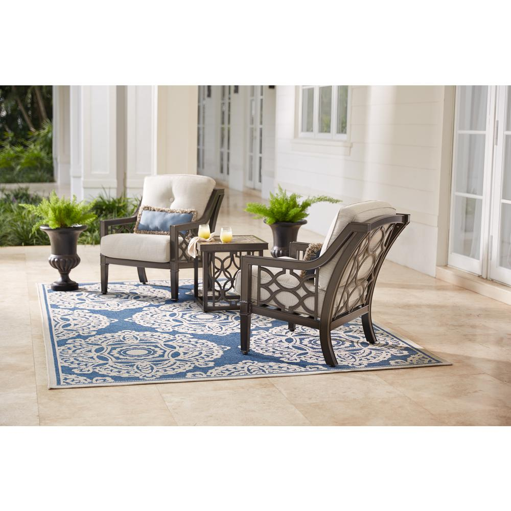 Home Decorators Collection Richmond Hill 3Piece Patio Chat Set with Hybrid Smoke Cushions181