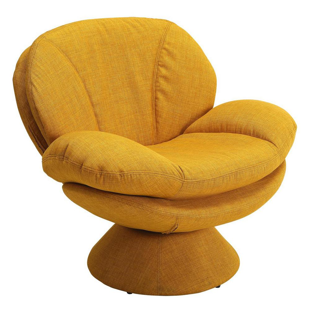 Mac Motion Chairs Mac Motion Chairs Comfort Chair Rio Straw Yellow Fabric Leisure Chair