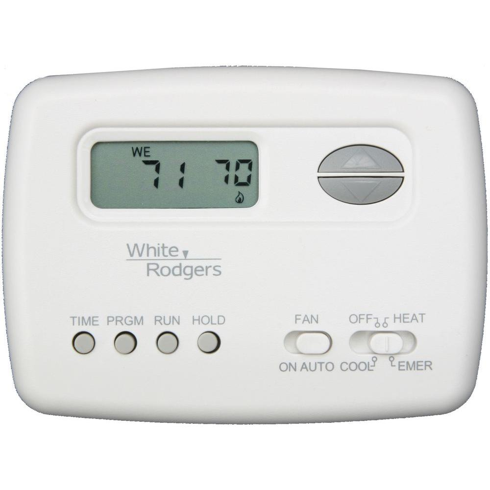 medium resolution of white rodgers 5 2 day 2 stage programmable heat pump thermostat