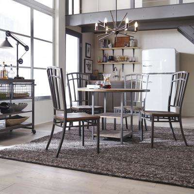industrial style dining chairs room chair seat covers home styles kitchen barnside metro gray set of 2