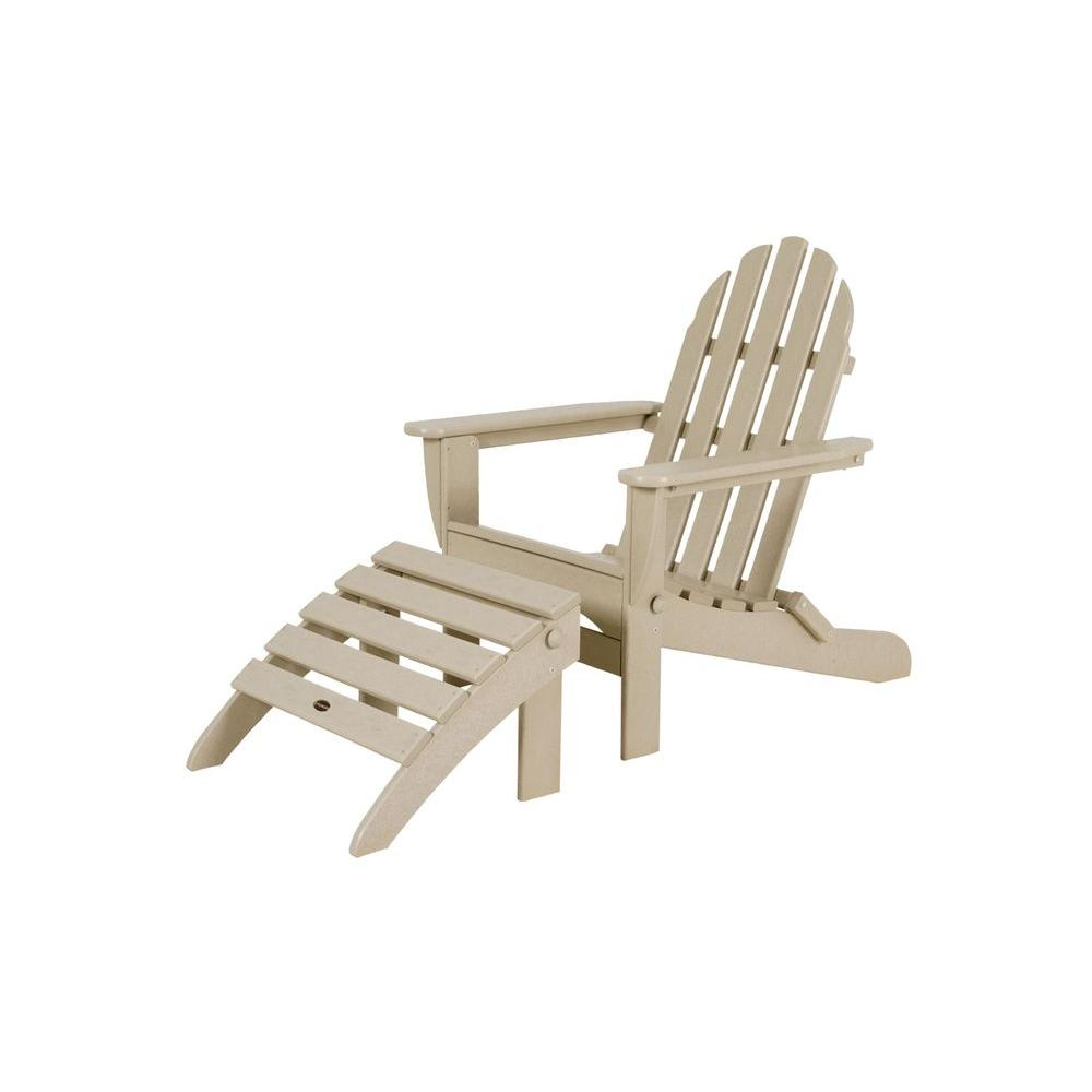 polywood classic adirondack chair office arms replacement sand plastic patio pws136 1 sa