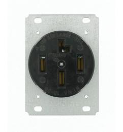 black leviton plugs connectors 8330 64 1000 leviton 30 amp surface mount power single outlet black 30 amp 120 208 volt  [ 1000 x 1000 Pixel ]