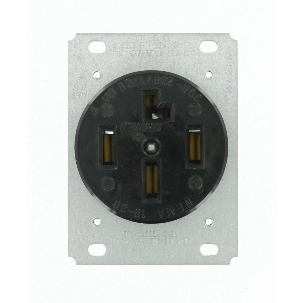 medium resolution of  black leviton plugs connectors 8330 64 1000 leviton 30 amp surface mount power single outlet black 30 amp 120 208 volt