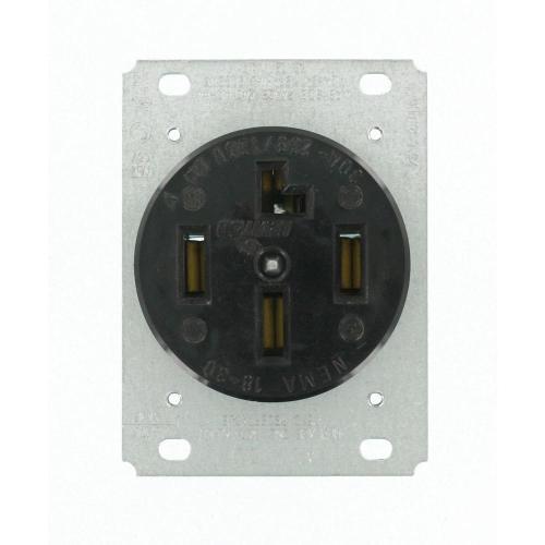 small resolution of  black leviton plugs connectors 8330 64 1000 leviton 30 amp surface mount power single outlet black 30 amp 120 208 volt