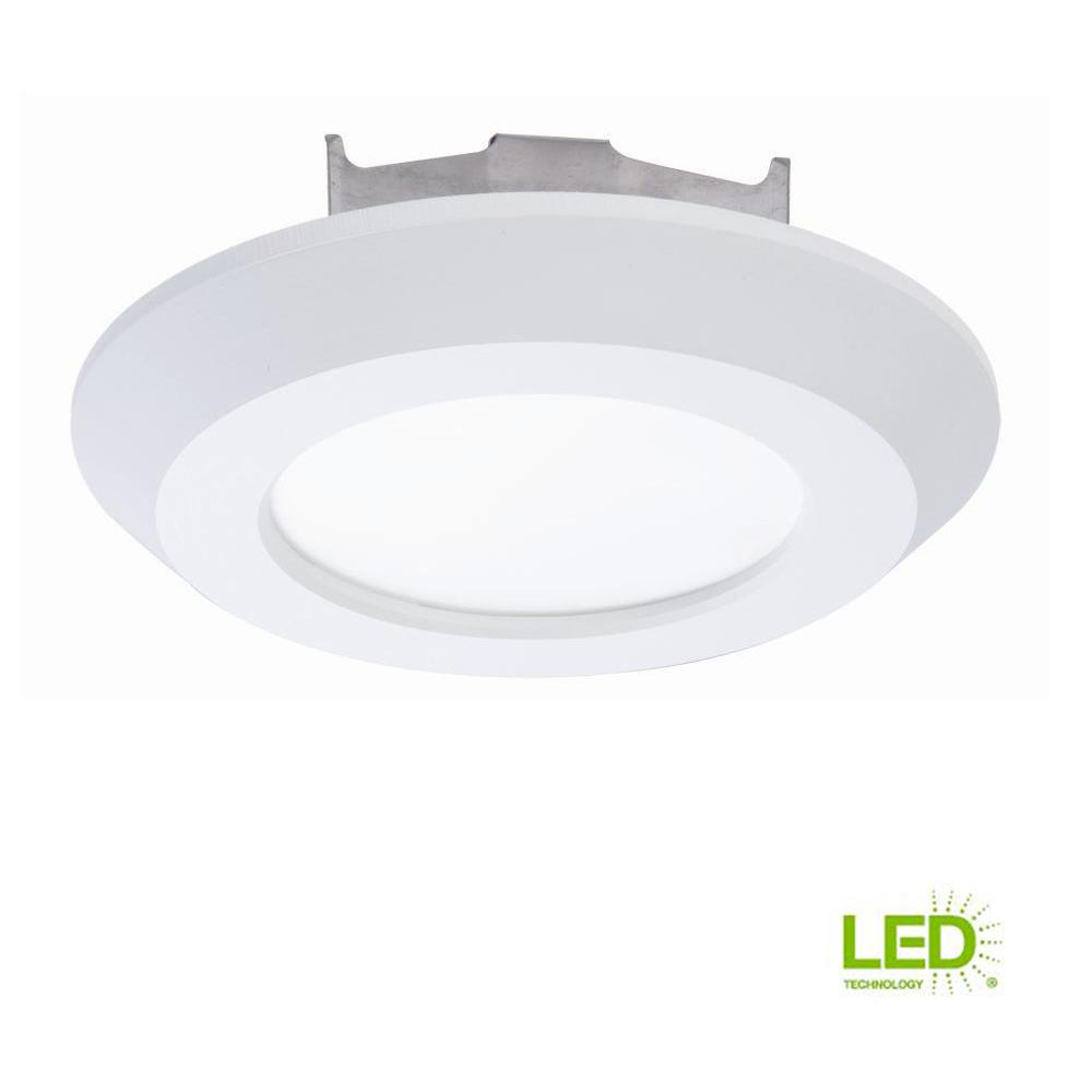medium resolution of matte white recessed led 3000k surface disk light with 80 cri