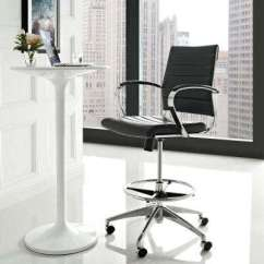Modern Drafting Chair Korean Massage Office Chairs Home Furniture Jive Stool In Black