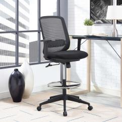 Mesh Drafting Chair Invisible Stand Buy Modway Acclaim In Black Eei 2862 Blk The Home Depot