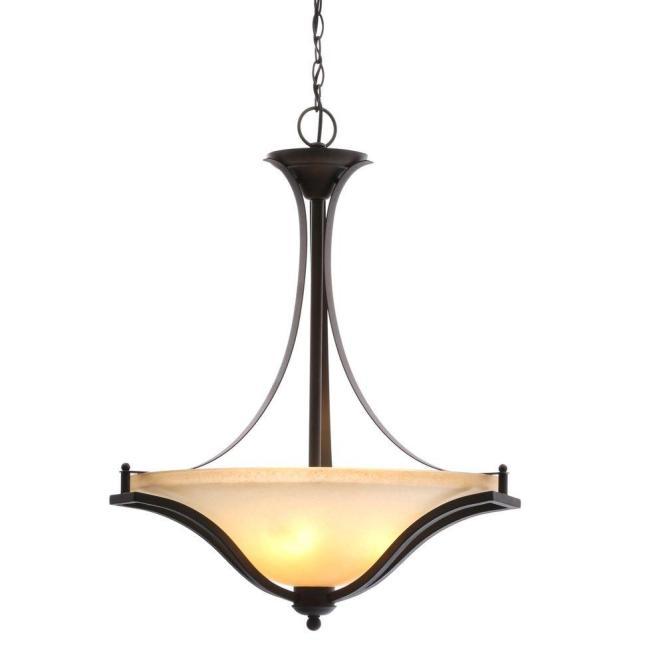 3 Light Rustic Iron Pendant