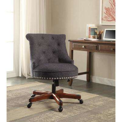 blue office chair royal covers chairs home furniture the depot sinclair dark with walnut wood base