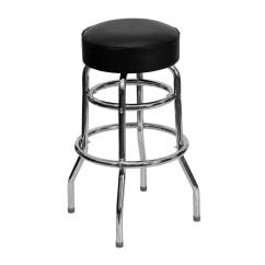 Chair Stool Black Red Metal Flash Furniture 30 25 In Chrome Cushioned Bar Xud100 The Home Depot