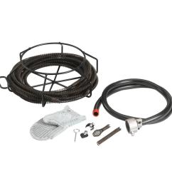 a 30 cable kit with c 8 5 8 in x 7 1 2 ft drain cleaning cables and drain cleaning tools [ 1000 x 1000 Pixel ]