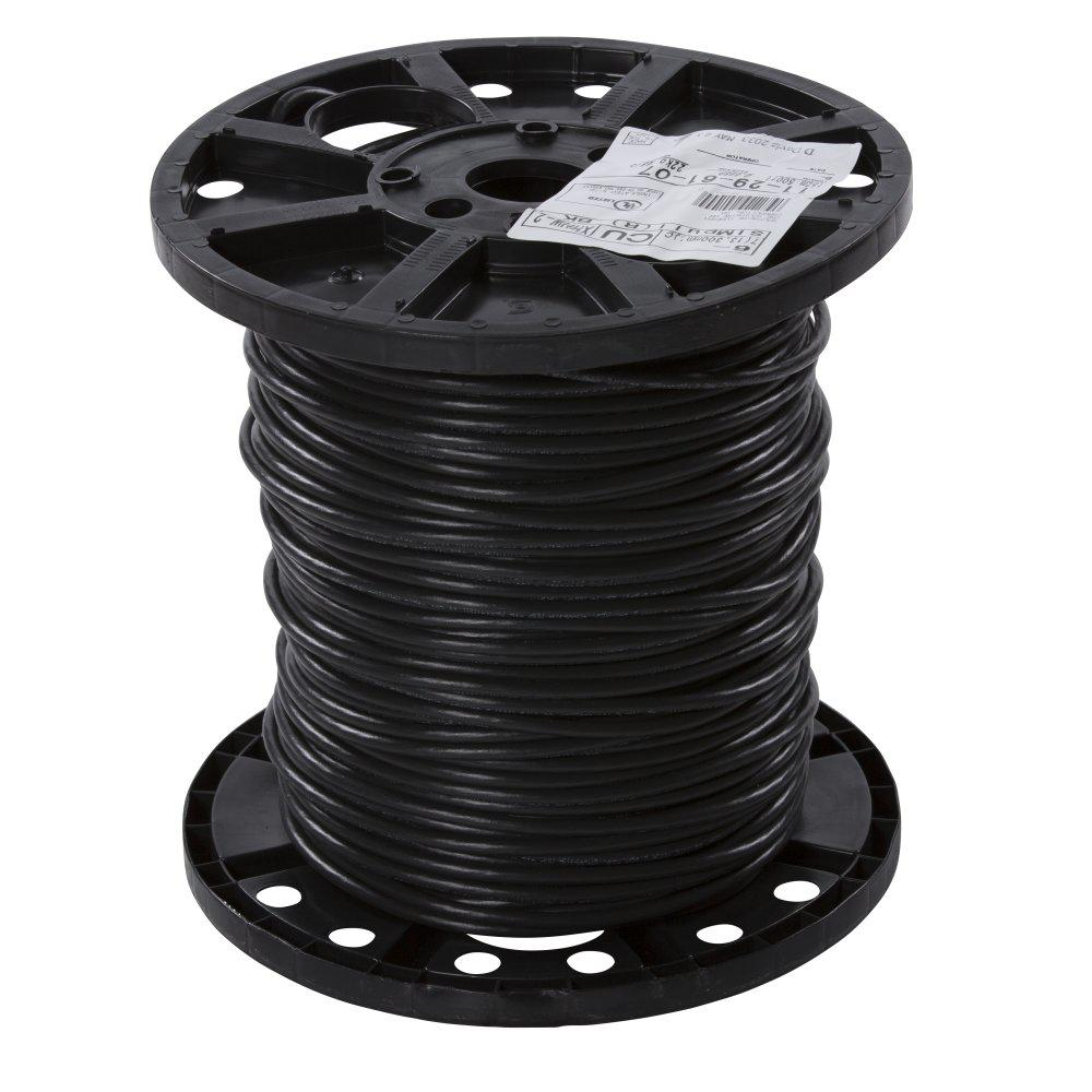 Southwire 500 Ft 6 Black Stranded Xhhw Wire