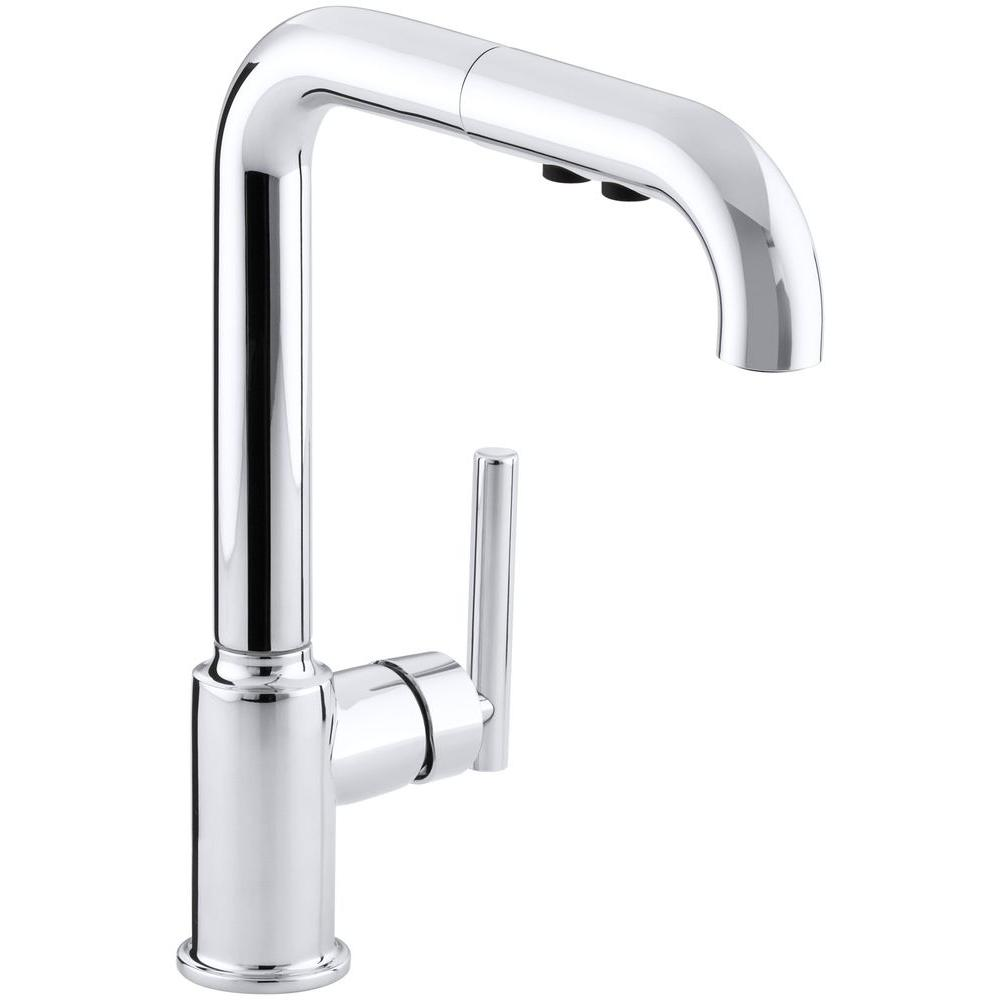 KOHLER Purist SingleHandle PullOut Sprayer Kitchen