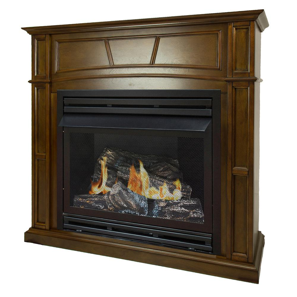 Pleasant Hearth 46 in Full Size Ventless Natural Gas