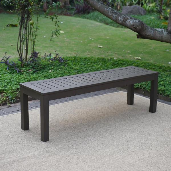Cambridge Casual Braga Wood Outdoor Backless Bench-hd-817140 - Home Depot