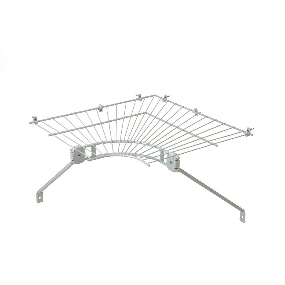 ClosetMaid Ventilated Wire Corner Shelf for 16 in. Shelf