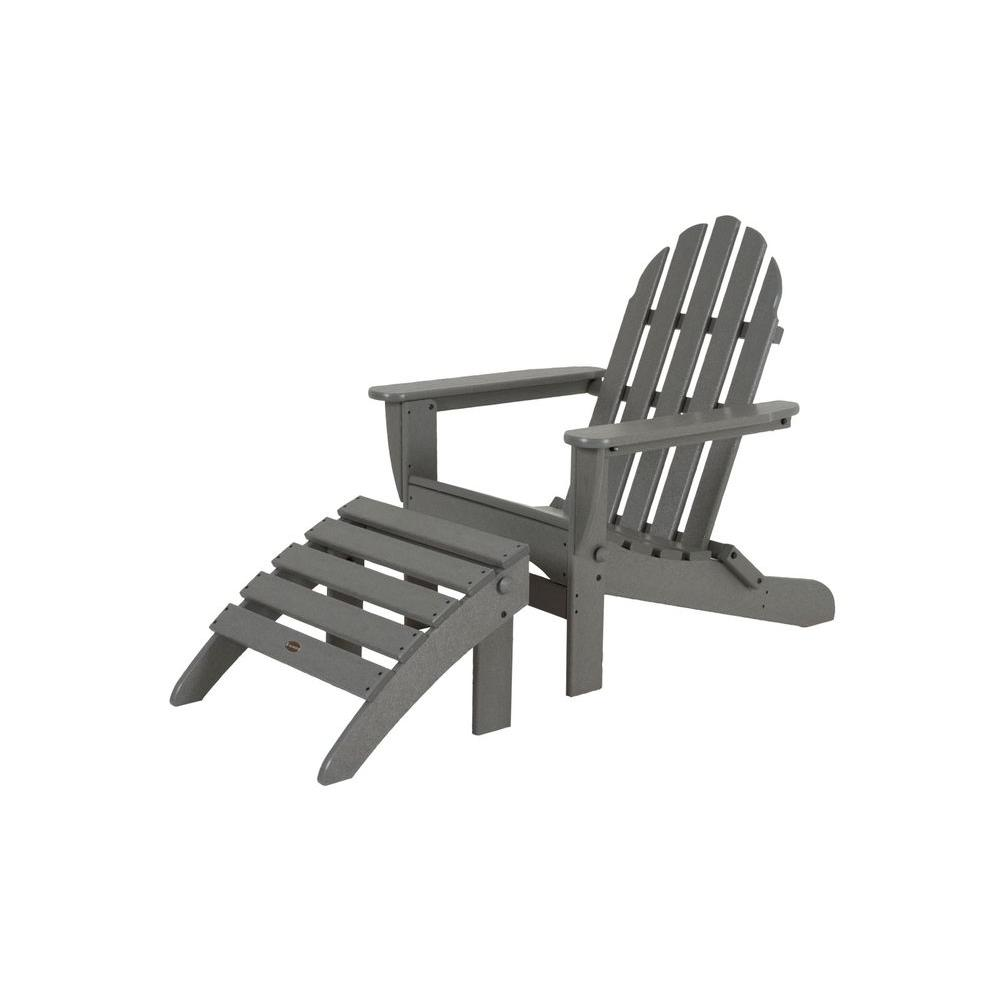 polywood classic adirondack chair peg perego prima pappa best high slate grey plastic patio pws136 1 gy the home depot