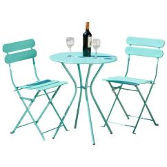 3 Piece Table And Chair Set Living Room Chairs Modern Design Rst Brands Sol Blue Patio Bistro Op Bs3 Bl The