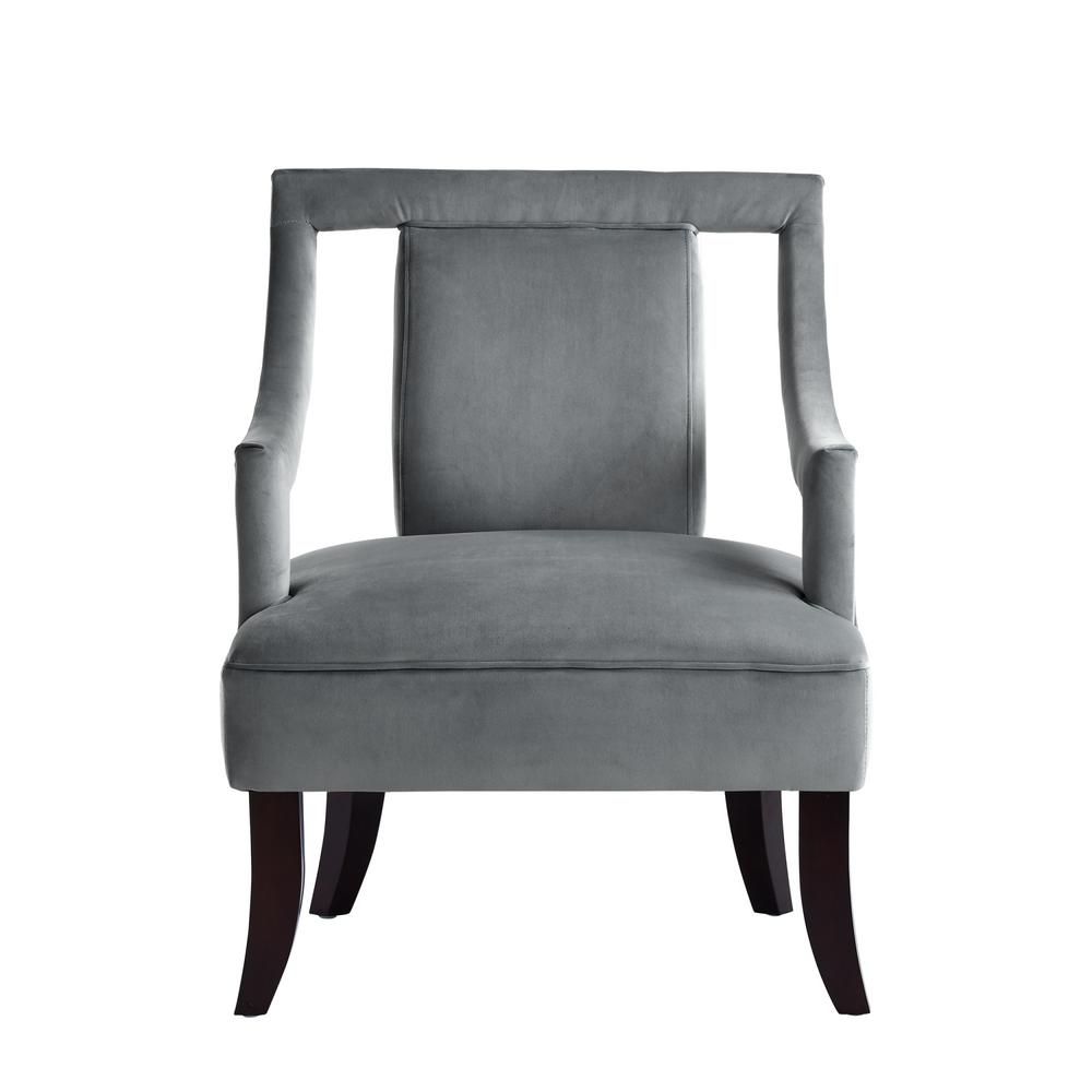 grey velvet slipper chair with pad inspired home felicity swoop arm open sides ac48 03gr hd the depot